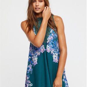 Free People Marsha Indigo Lace Slip Dress Tunic